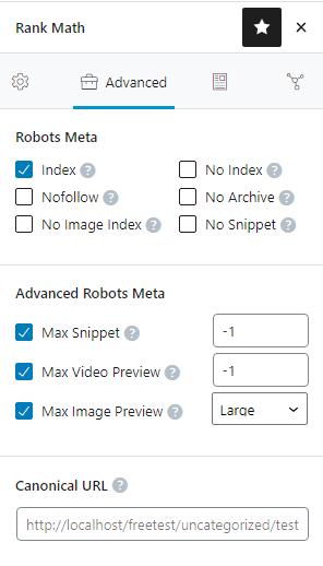 Index Canonical URL