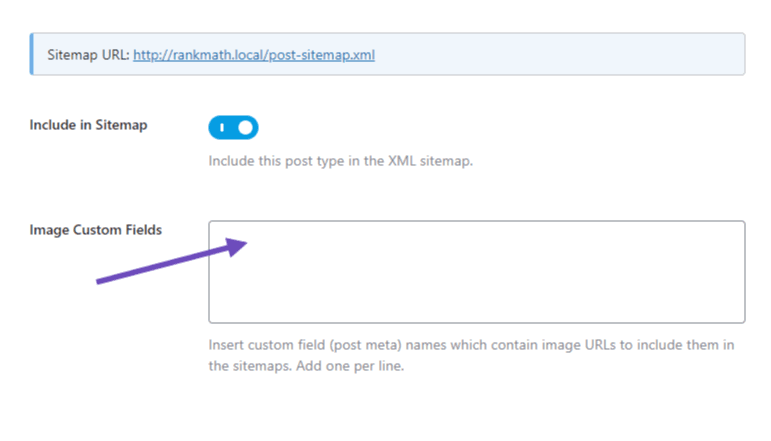 Image custom fields