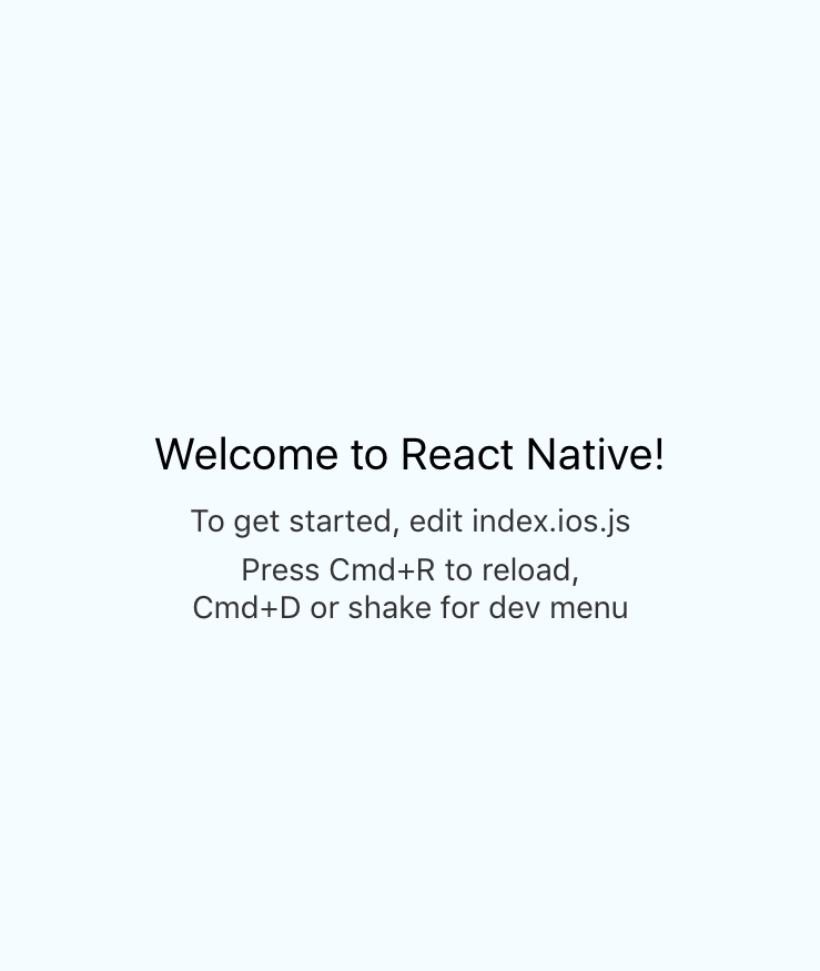 Hello World React Native app