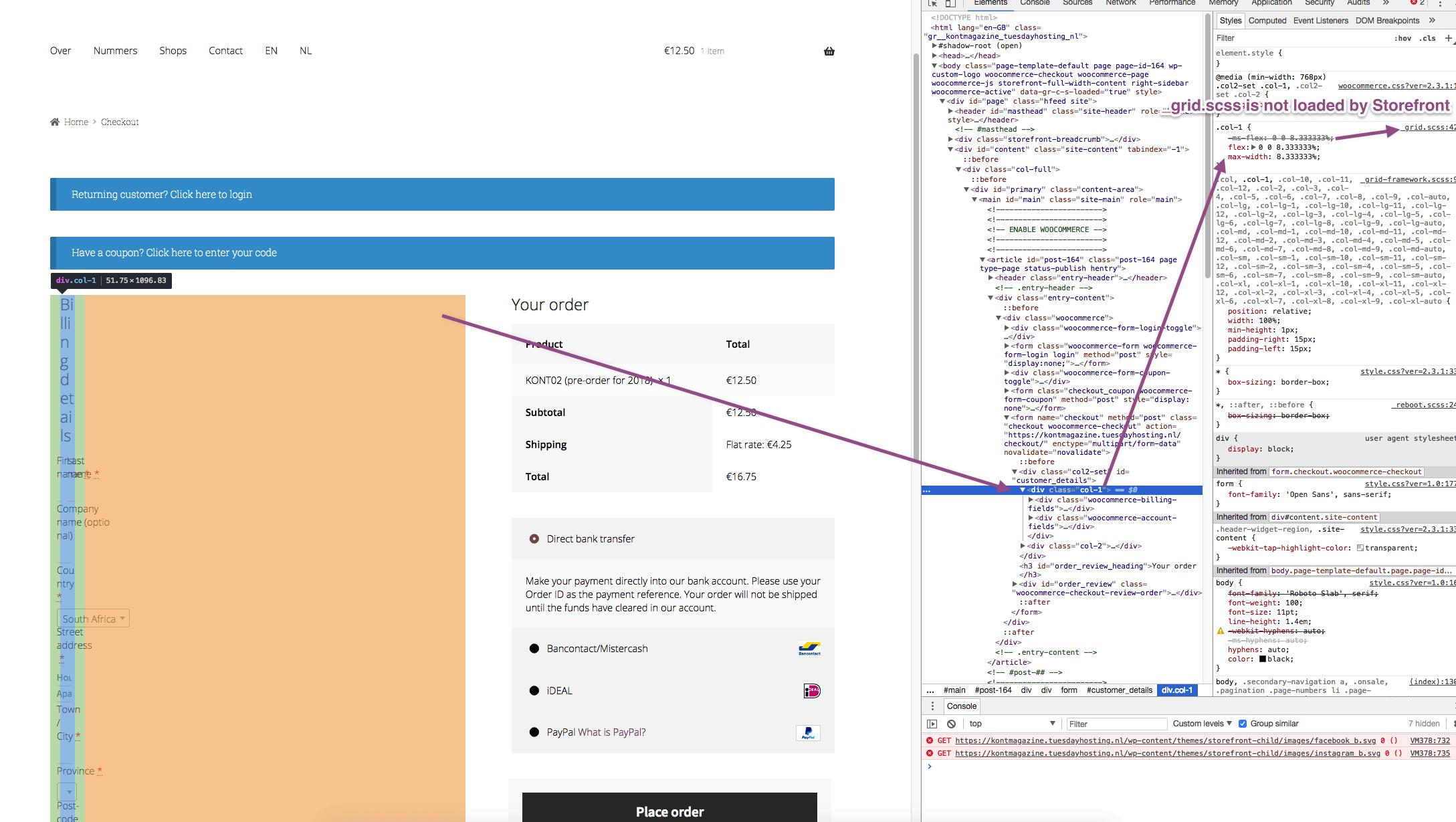 plugin/theme conflict