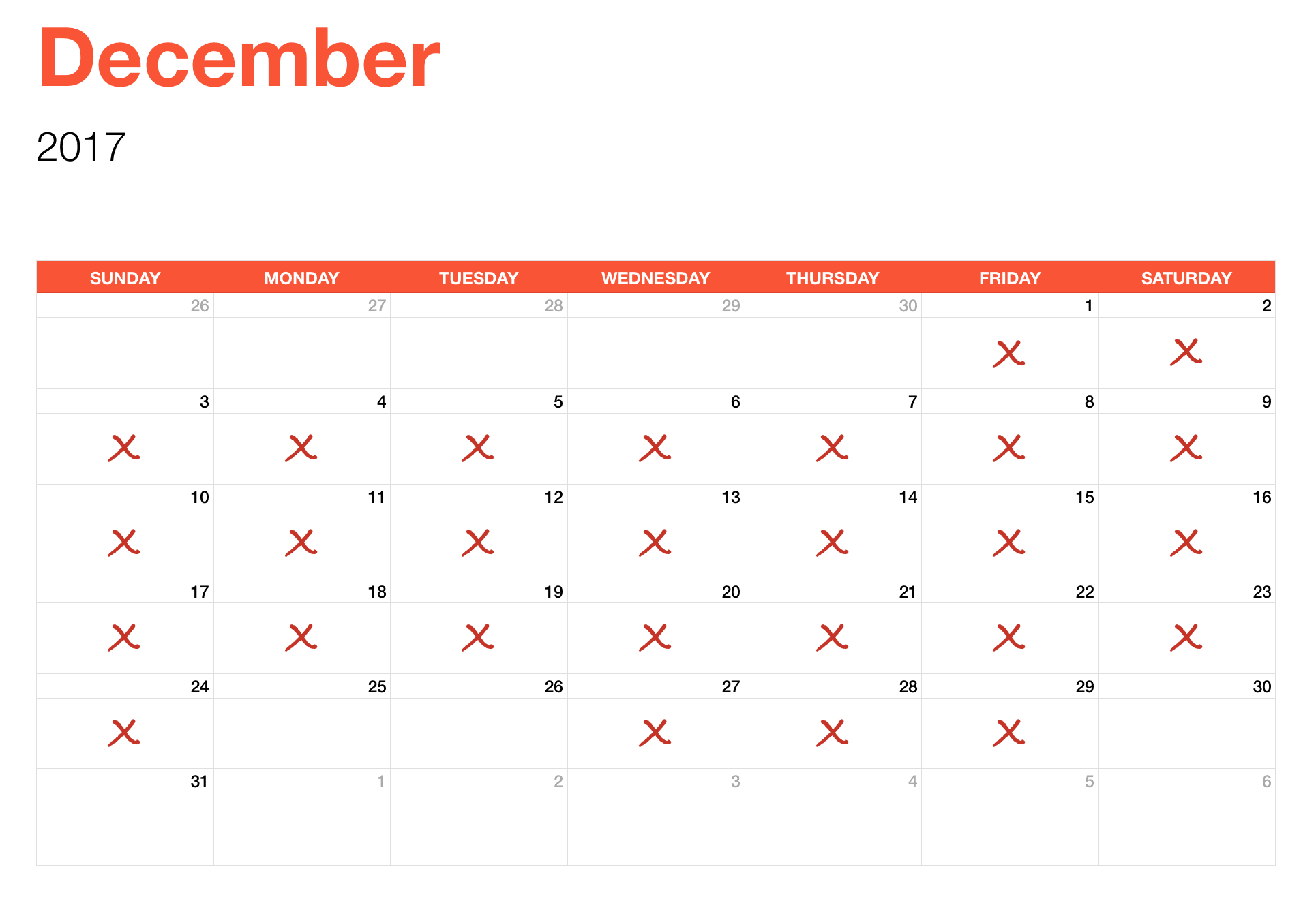 Streak for December Journalling