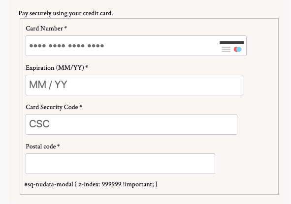CSS on checkout