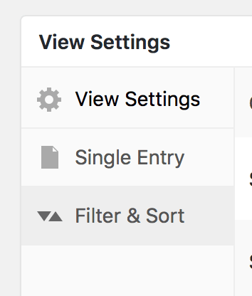 GravityView's Filter & Sort tab