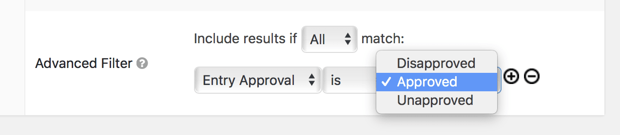 Select the approval status