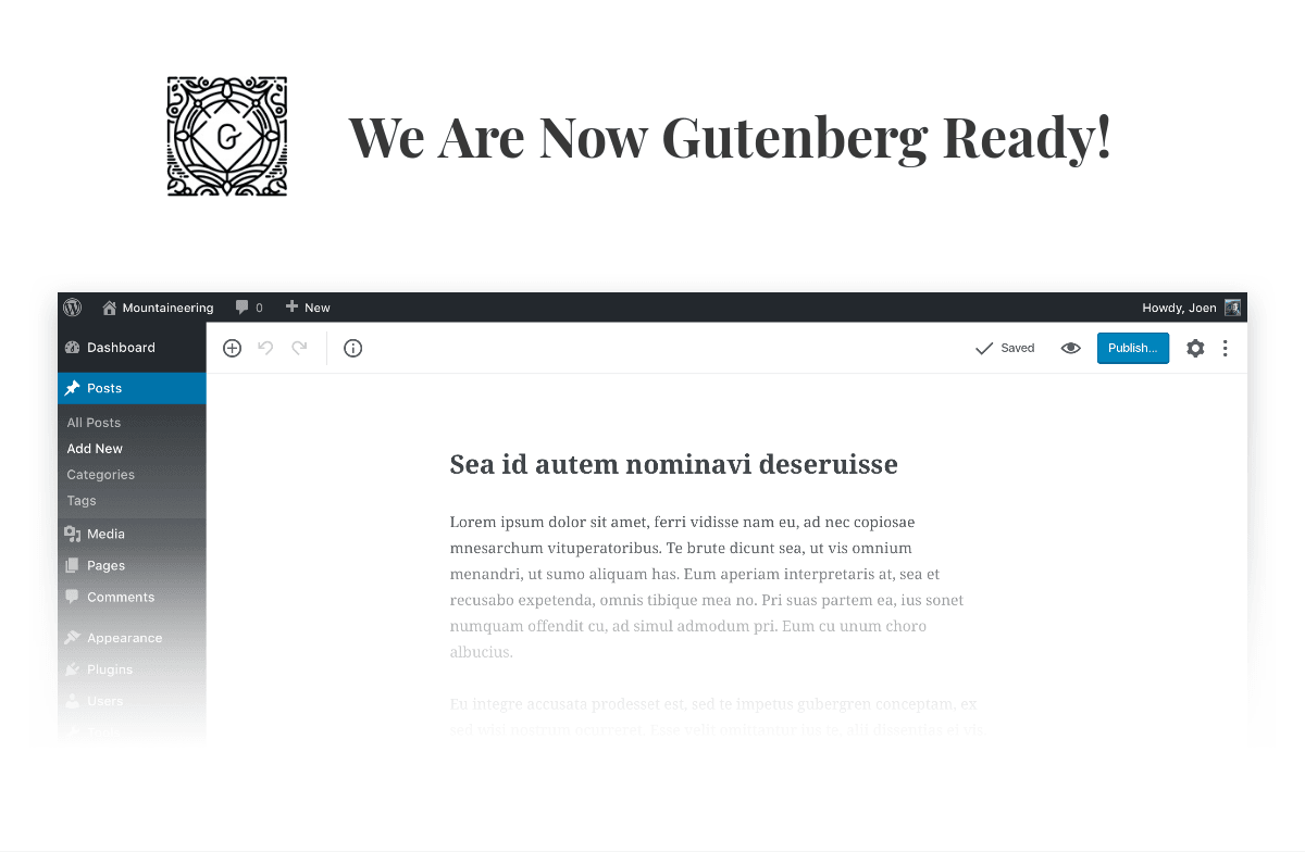 Gutenberg ready WordPress theme by Codestag
