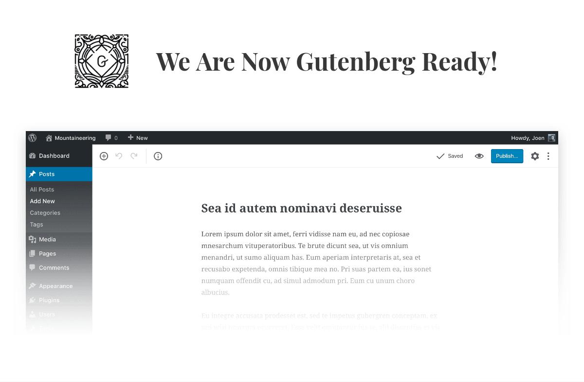 Gutenberg editor for WordPress