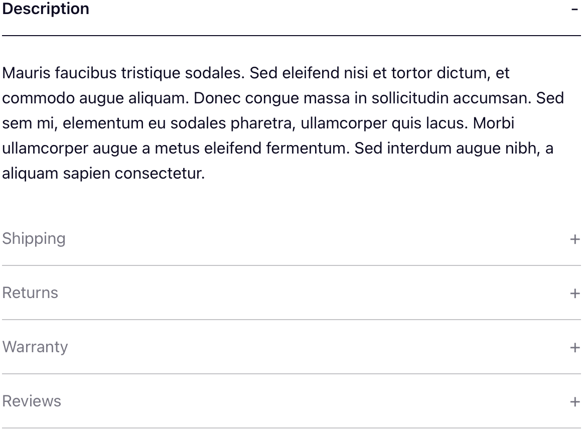 Tabs in the vertical layout