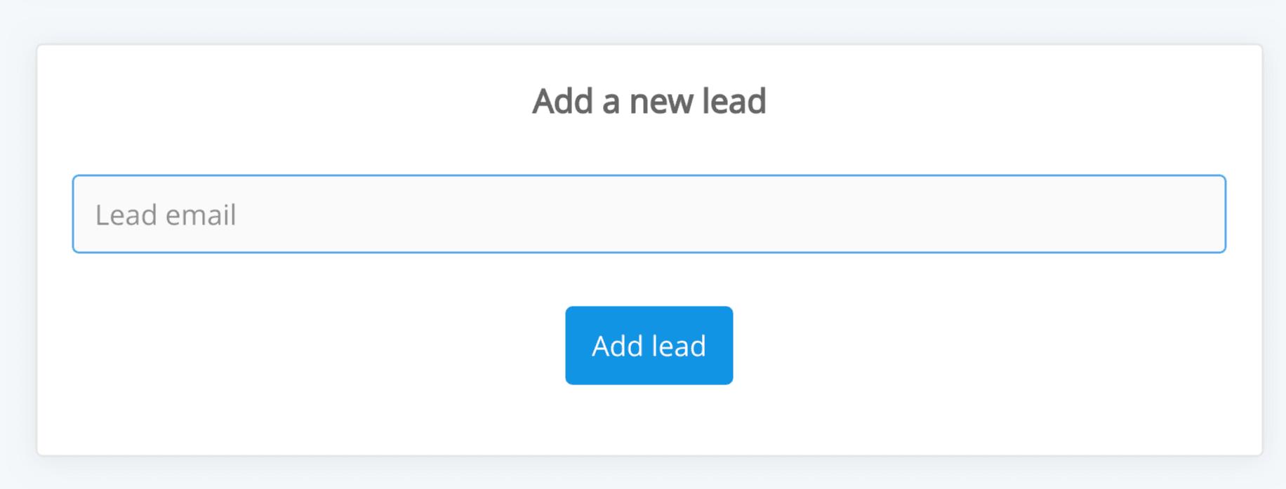 Add leads