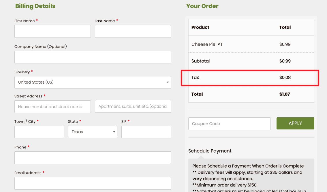 WooCommerce-taxes