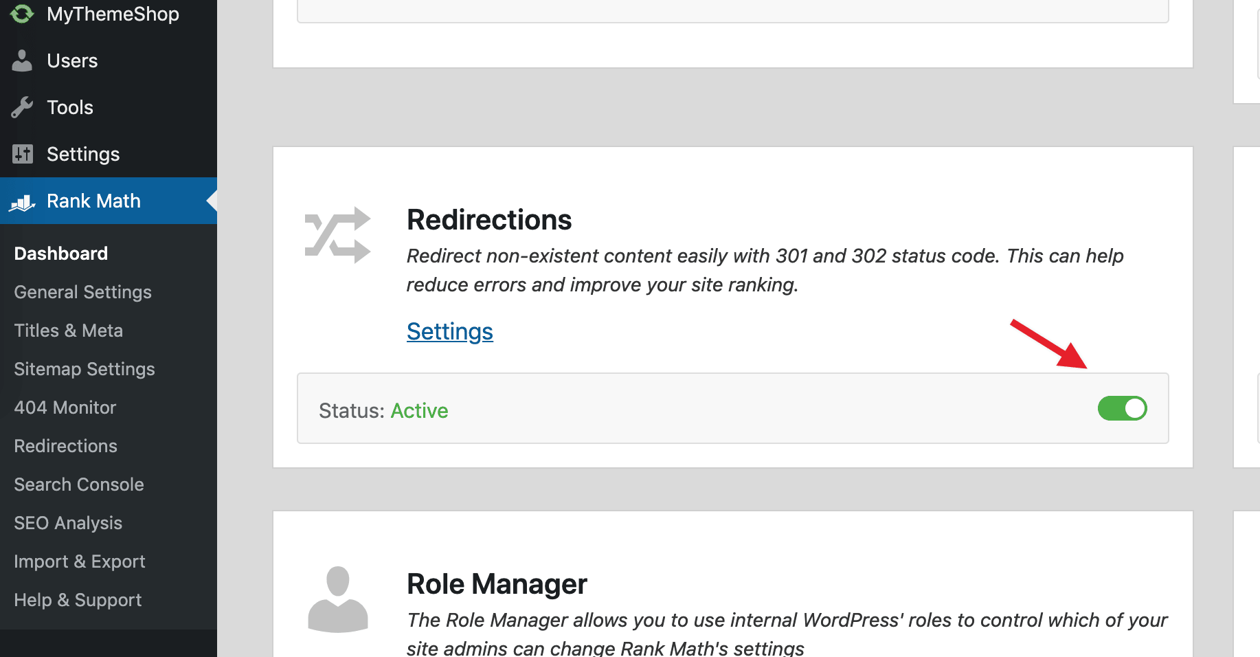 Disable Redirections