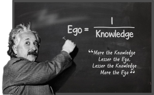 Albert Einstein's Quote on Ego