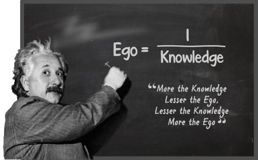 Albert Einstein's Quote on Ego