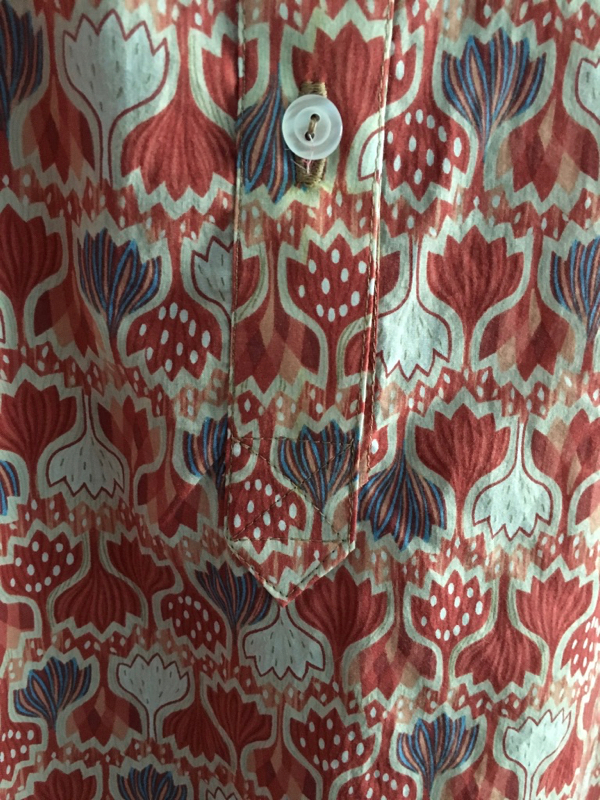 Kalle tunic placket detail