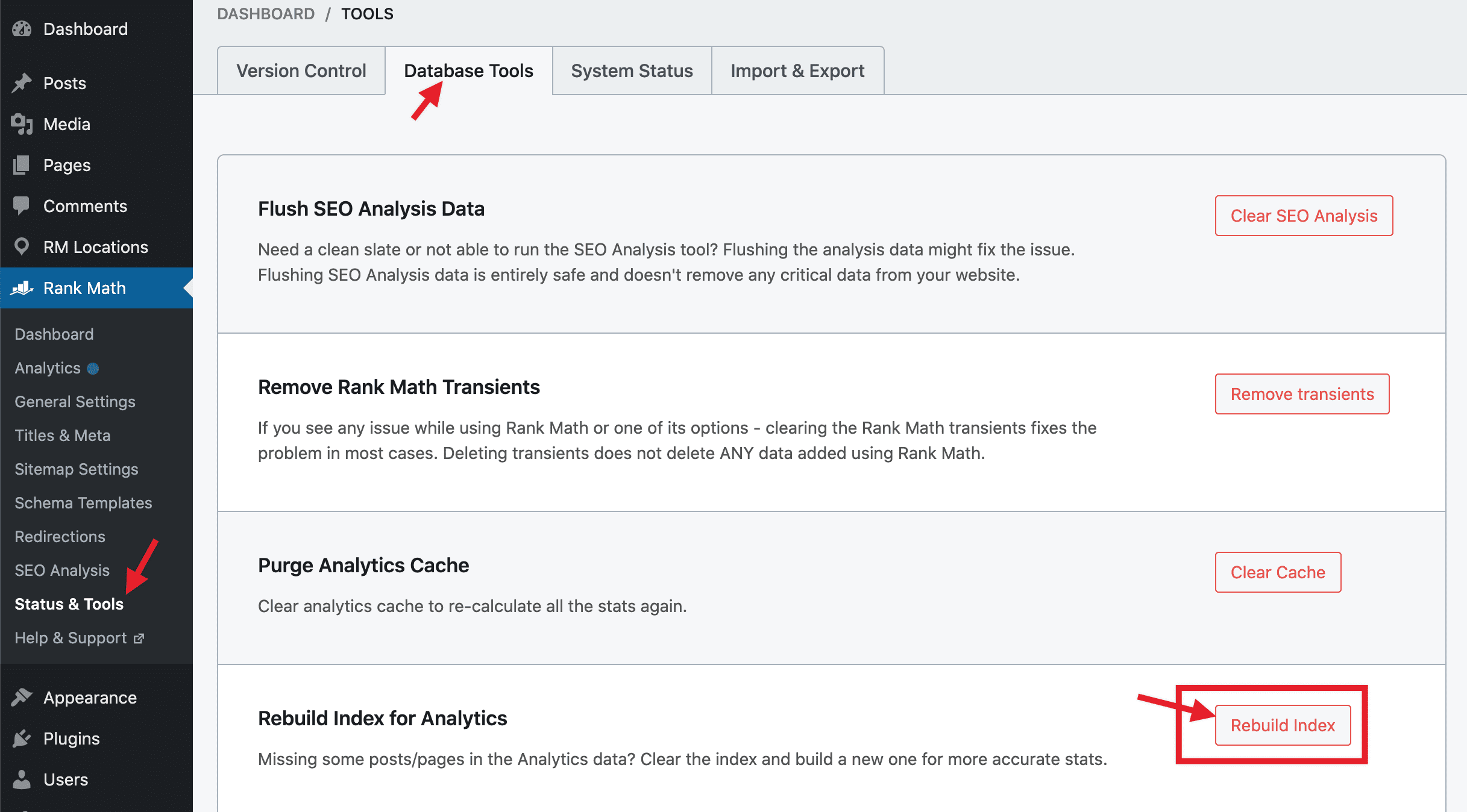 Rebuild Index for Analytics
