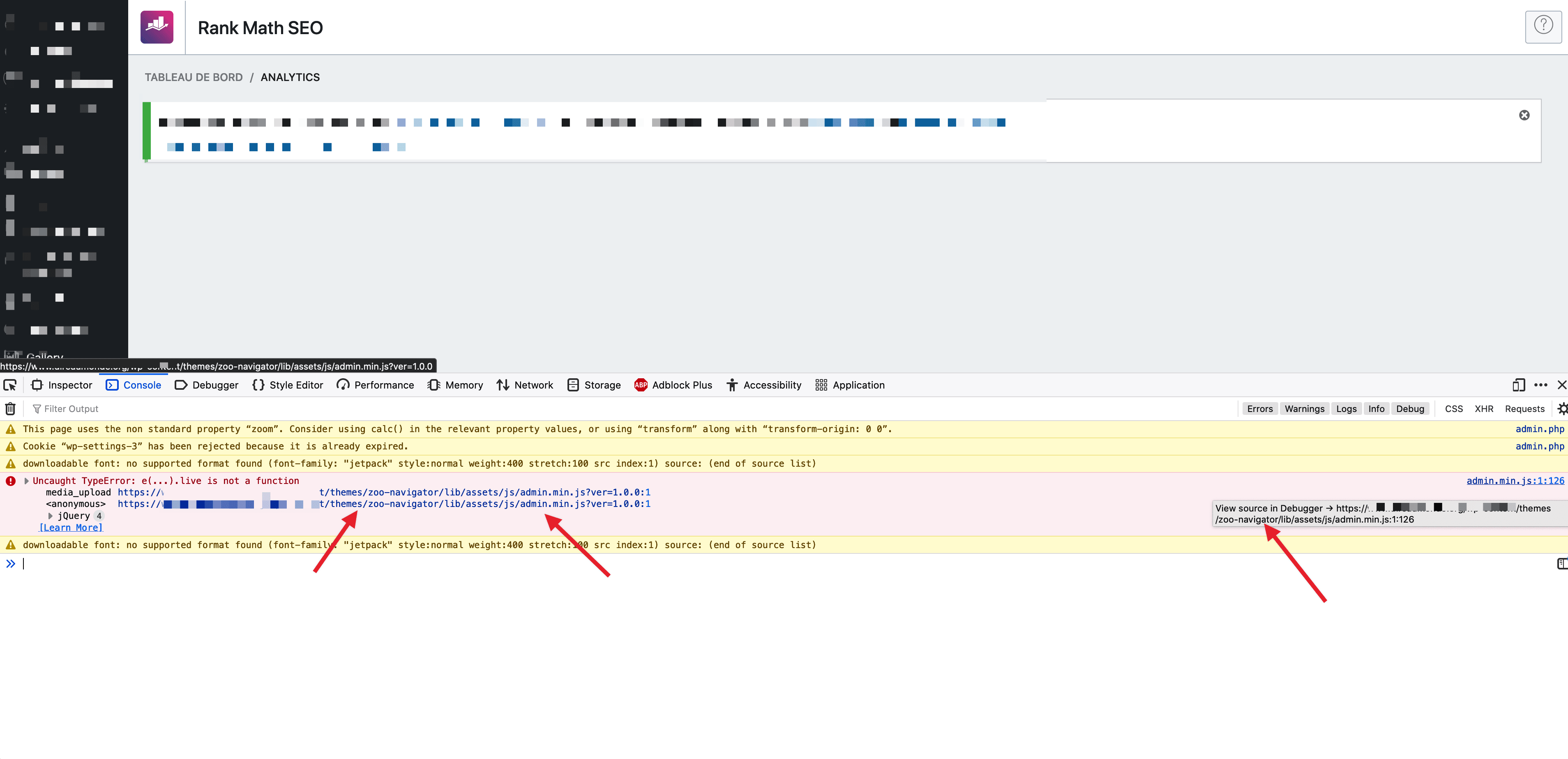 script loading error